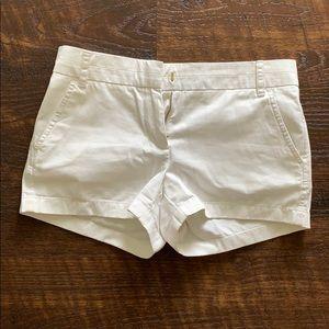 White J Crew Chino Shorts